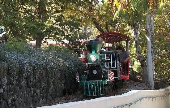Gilroy, Californië: A train that goes around the park