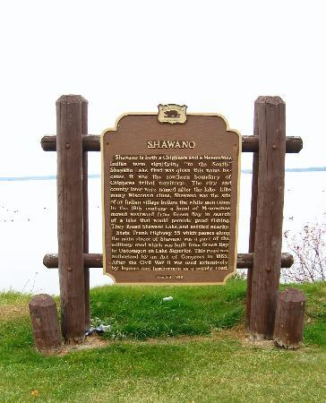 Boarders Inn and Suites Shawano, WI: Historical Marker on the Lake