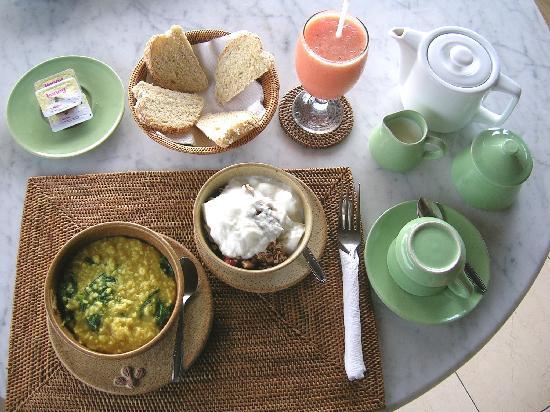 Alam Shanti: Breakfast - local rice porridge