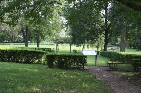 Greeneville, TN: A view of the lawn behind the Andrew Johnson homeplace