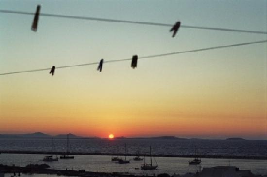 Despina's Rooms : Sonnenuntergang von Despina's terrasse