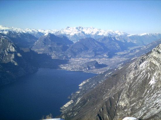 Baita dei Forti: The view from the Hotel to Riva del Garda