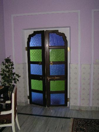 Saba Haveli: door to our suite