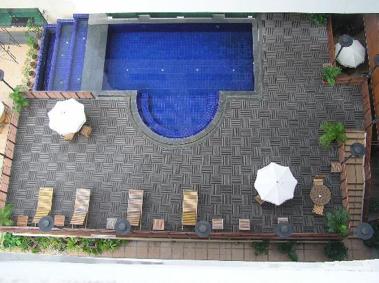 Princeton Bangkok: View of the pool from our balcony