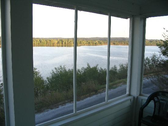 Golconda, IL: View of Ohoi River from front porch