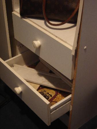 Regency Court Hotel: the full drawer and ' cupboard'