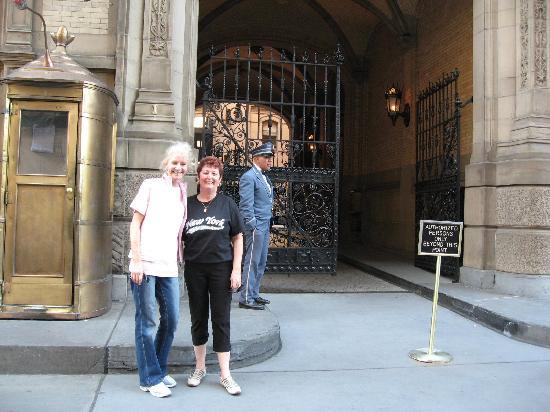 Standing At The Entrance To The Dakota Building Home Of