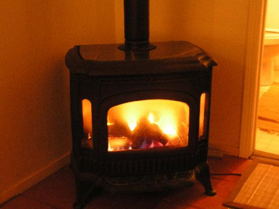 Hillcrest Bed & Breakfast: Fire place in Mountain View room - SWEET
