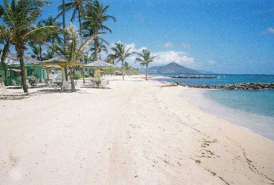 Nisbet Plantation Beach Club: view of St. Kitt's from Nisbet beach. Soooo Peaceful
