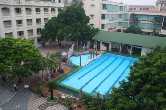 Army Guest House: View of pool & gym