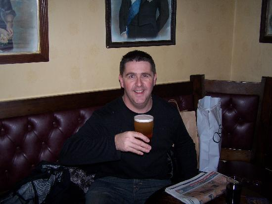 The Old Bakery: Me enjoying a pint at The Victoria