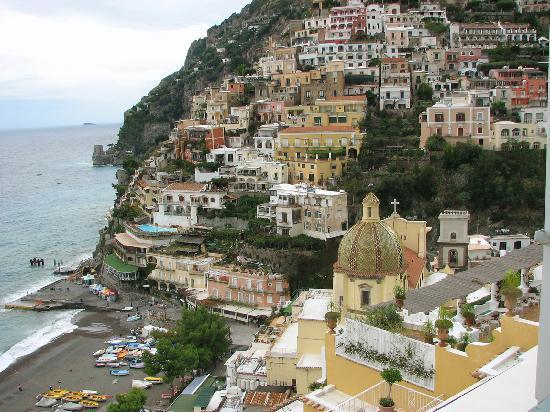 Sorrente, Italie : Positano from the top