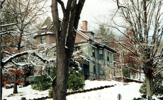 Waterbury, CT: House on the Hill in winter