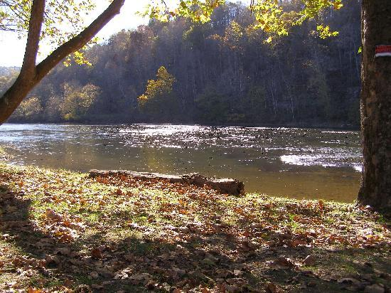 New River Retreat: New River across from Ayita
