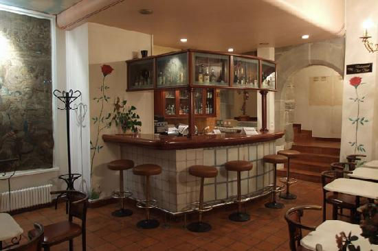 Hotel de la Rose : Bar/Restaurant on 1st floor