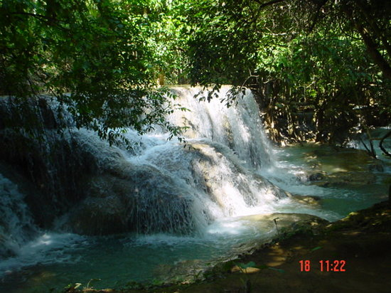Laos: waterfall