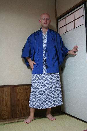 Ryokan Sawanoya: This is the yukata (had to show my face to show ya, sorry about that)