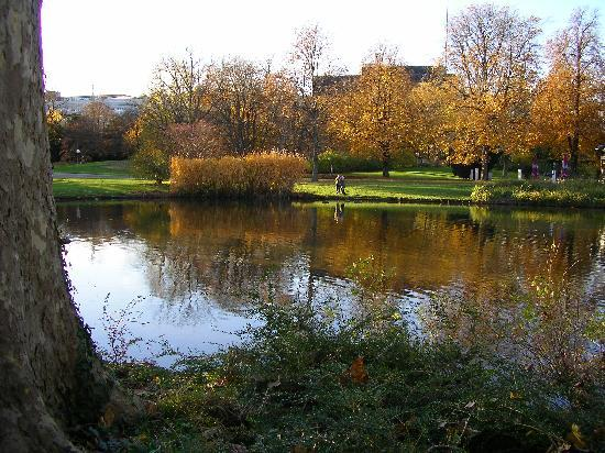 Stuttgart, Almanya: Park in autumn