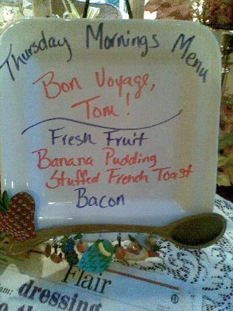 Pettigru Place Bed and Breakfast: Bon Voyage