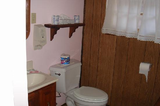 Timber Haven Lodge : Pink Bathroom ...
