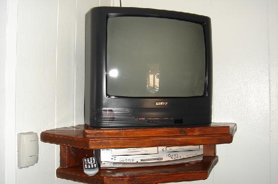 Timber Haven Lodge: TV with DVD and VCR