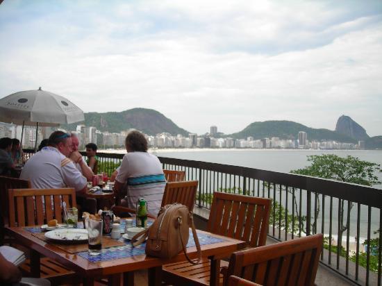 Sofitel Rio De Janeiro Copacabana Beach View From Hotel Cafe