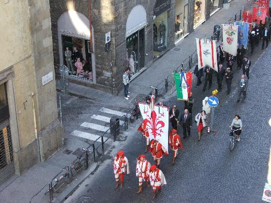 Hotel San Giovanni: Procession going by below our hotel room window