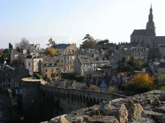 View from town wall into Dinan