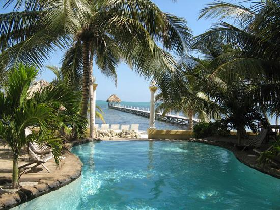 Pelican Reef Villas Resort : Pool, overlooking private beach and pier