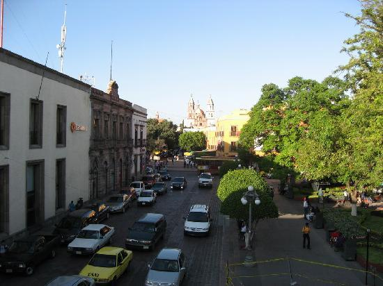 Hotel Plaza: View 1 of streets from balcony