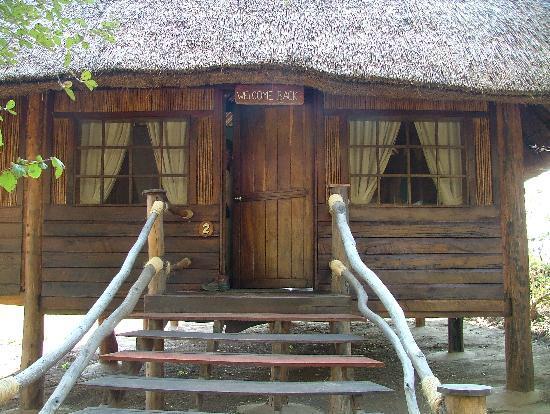 Kafunta River Lodge: Welcome on the door.