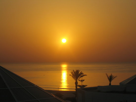 Hasdrubal Thalassa & Spa: vioew from balcony at sun rise