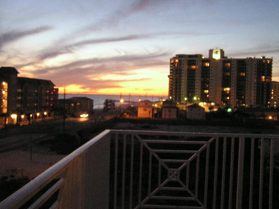 Amalfi Coast Resort: Sunset from the fourth-floor balcony