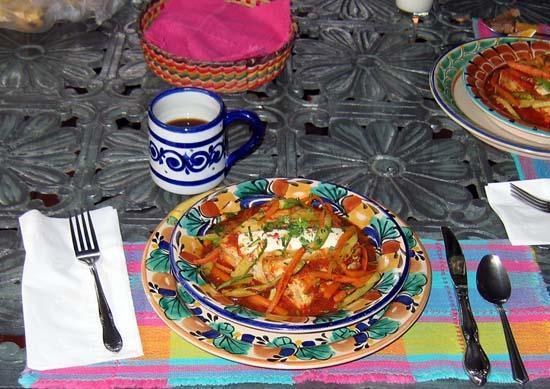 Casa de Las Flores: One of Stan's special breakfasts