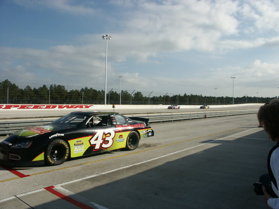 Richard Petty Driving Experience: just stay consistant. view from pits