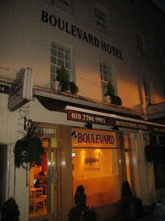 the Boulevard Hotel, London