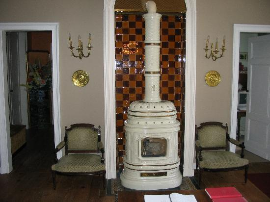 Chateau du Foulon: The wood stove