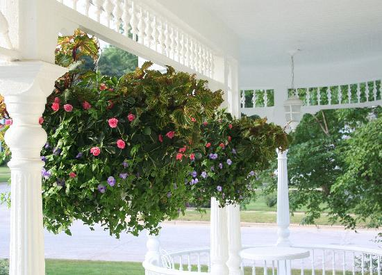 Anna V's Bed and Breakfast: A view of the porch and the wonderful flowers