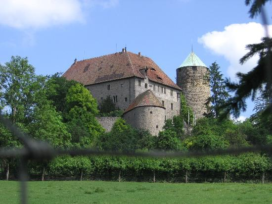Hotel Burg Colmberg: view of castle from road