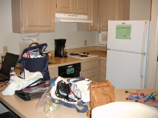 Hyatt House Herndon: Our kitchen mess when we arrived