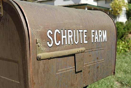 Schrute Farms: The farm mailbox