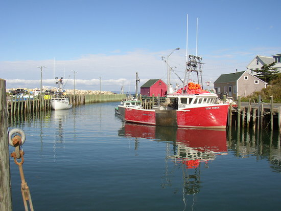 Nova Scotia, Canada: High Tide at Hall's Harbour on  the Bay of Fundy