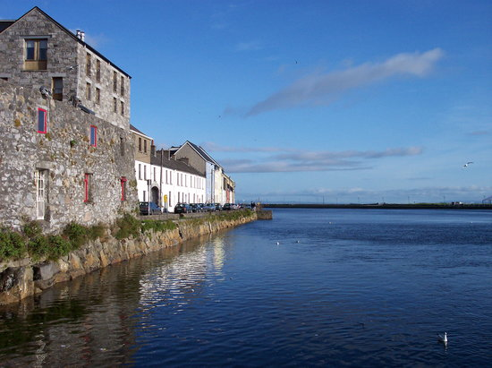 Galway, Ireland: a view of the har bor