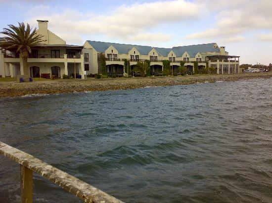 Protea Hotel by Marriott Walvis Bay Pelican Bay: The Hotel from the Jetty