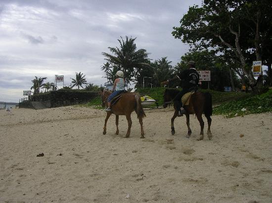 Outrigger Fiji Beach Resort: horseriding on the beach
