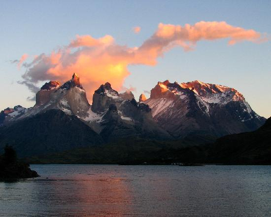 Torres del Paine National Park: View from campsite.