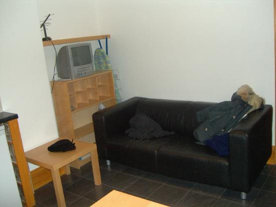 Dalmacia Hotel: Sofa and tv
