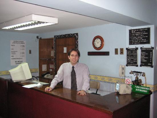Hotel Foresta: Sebastian at front desk