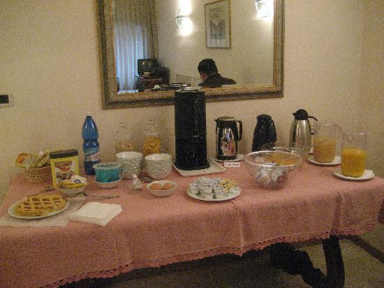 La Locandiera: Breakfast spread