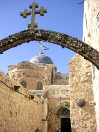 Yerusalem, Israel: Station 9 of the cross